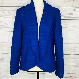 Chicos Jacket Texture Open Front SemiSheer Stretch